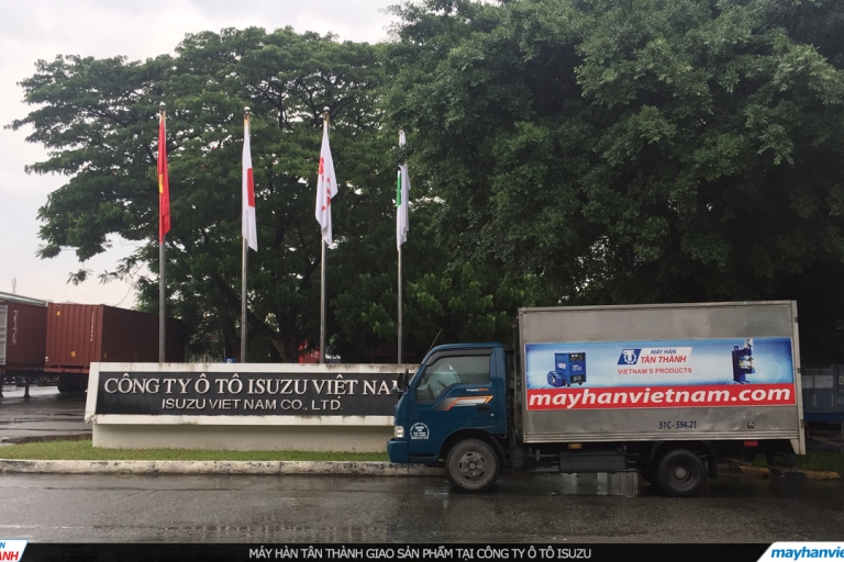 Giao Máy Hàn Tân Thành tại ISUZU Việt Nam