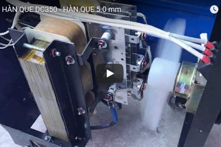 MÁY HÀN QUE 350DC - TEST VỚI MÁY PHÁT ĐIỆN 45KVA